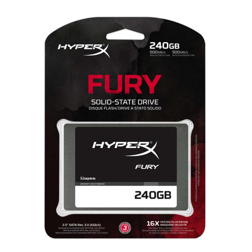 KINGSTON HyperX Fury 240GB 500MB-500MB/s Sata3 SSD