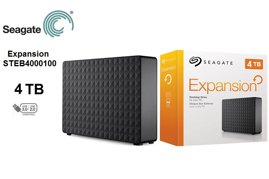 "SEAGATE 3.5"" EXPANSION 4TB USB 3.0 EXTERNAL HDD SİYAH STEB4000200"