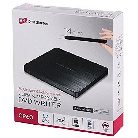 LG GP60NB60 8X DVD-RW ULTRA SLIM HARİCİ USB 2.0 SİYAH DVD
