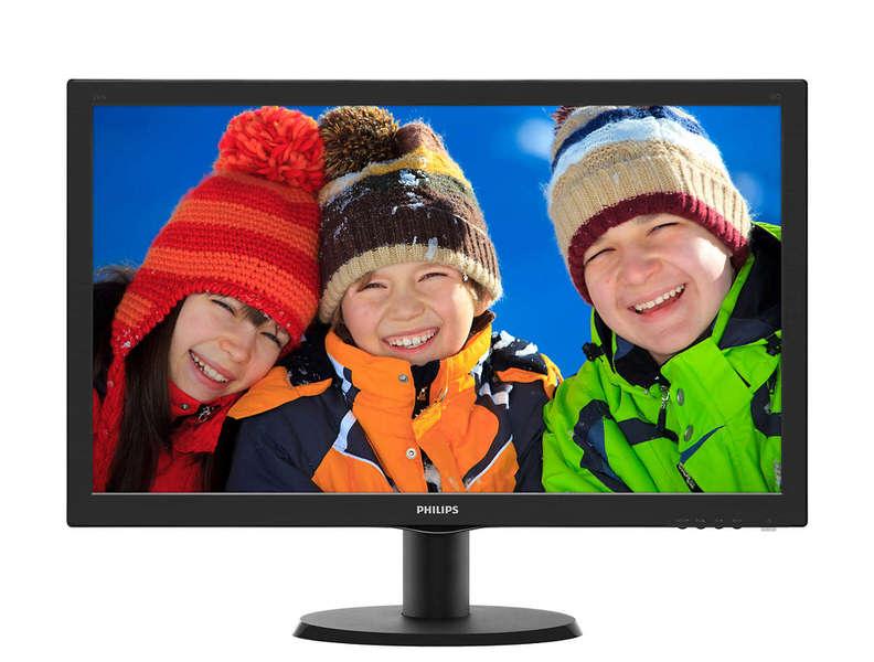 PHILIPS 23.6 243V5LHSB5/00 1MS VGA DVI HDMI SİYAH MNT