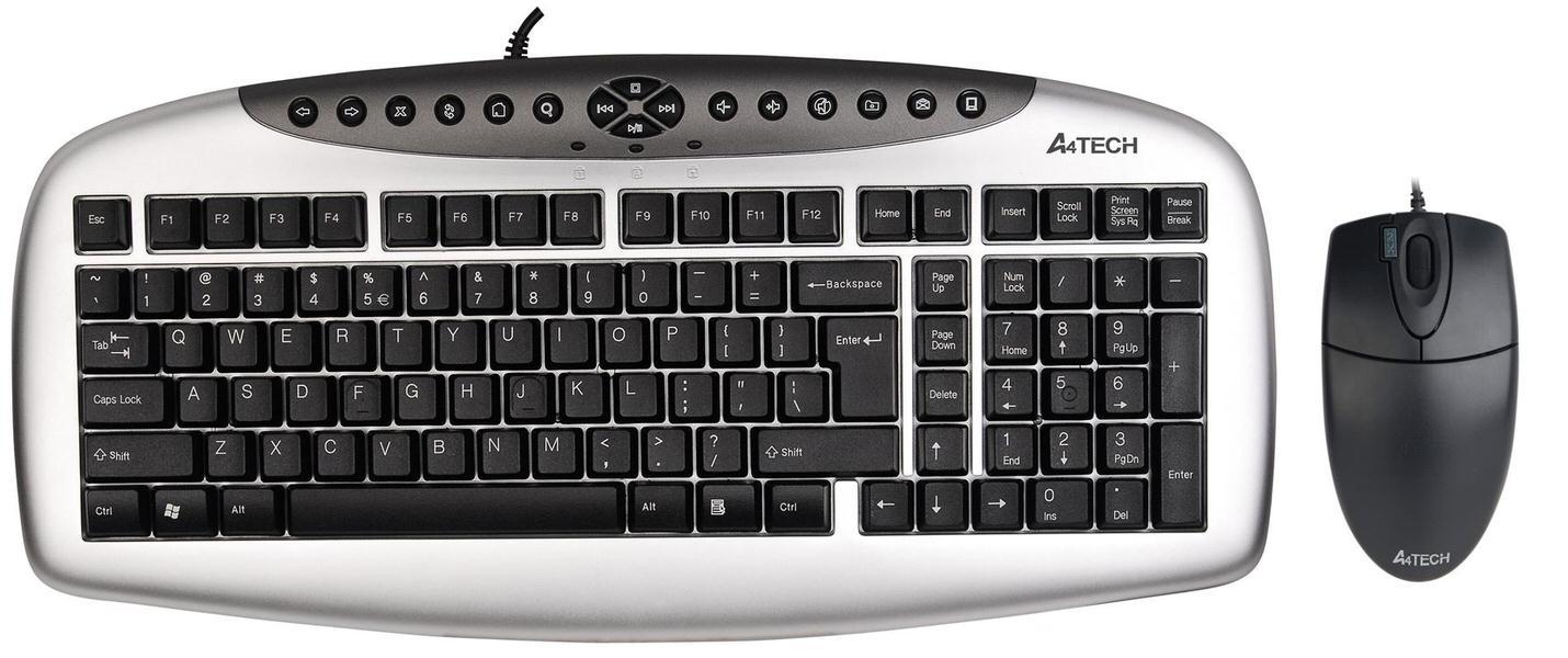A4 TECH KB-21620D GÜMÜŞ SİYAH Q TR USB KABLOLU