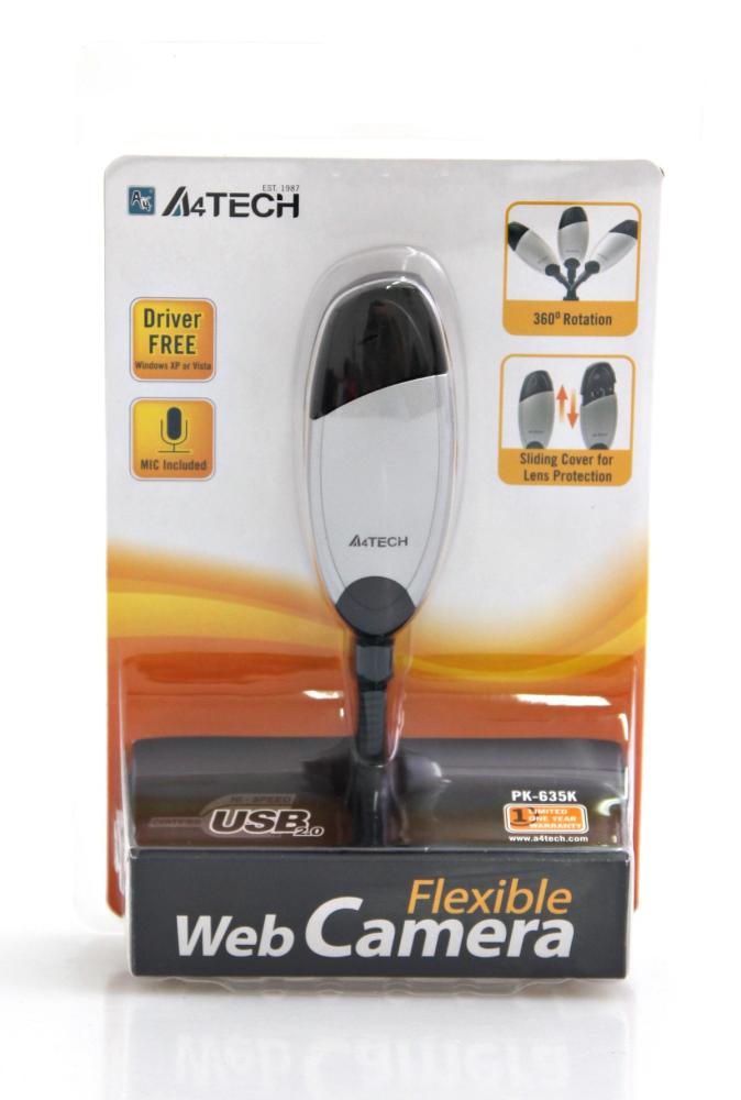 A4 TECH PK635K Yüz Takipli Mikrofonlu Webcam
