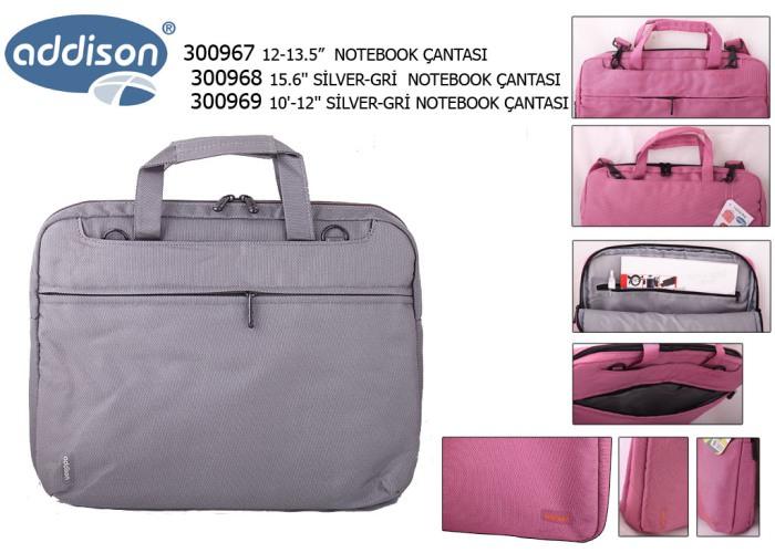 ADDISON 300968 15.6 Gümüş-gri Bilgisayar Notebook Çantası
