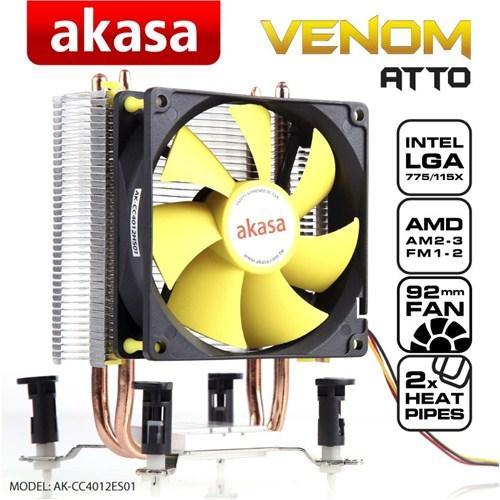 Akasa Venom Atto 775/1155/1156/1150/1151 /AM4 RYZEN  İşlemci Fanı