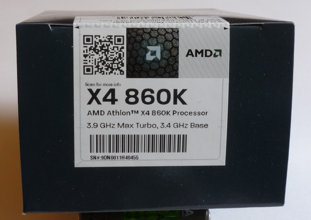 AMD Athlon II X4 860K 3.7GHz 4MB Cache FM2+ AMD İşlemci Box