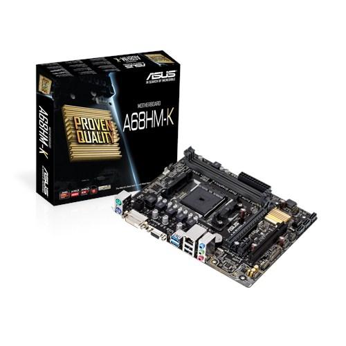 ASUS A68HM-K AMD A68 Soket FM2+ DDR3 2400MHz(O.C) DVI&VGA ANAKART