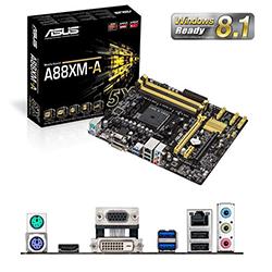 ASUS A88XM-A Soket FM2+ DDR3 2400MHz(O.C.) SATA 3.0 USB 3.0 VGA&DVI Anakart