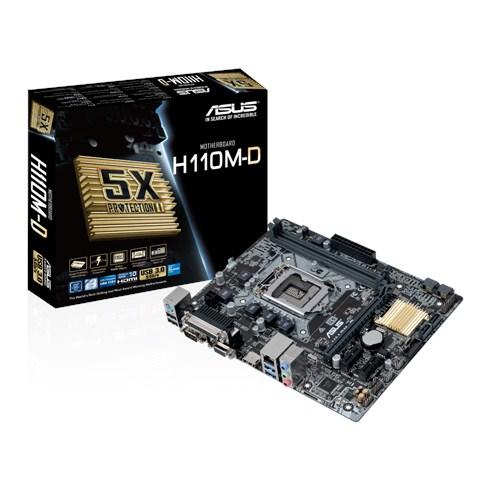 ASUS H110M-D Intel H110 Soket 1151 DDR4 2133Mhz USB3.0 SERİ PARALEL PORT Anakart