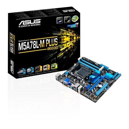 ASUS M5A78L-M PLUS/USB3 Amd 760G (780L)/SB710 DDR3 Soket AM3+ m-ATX Anakart