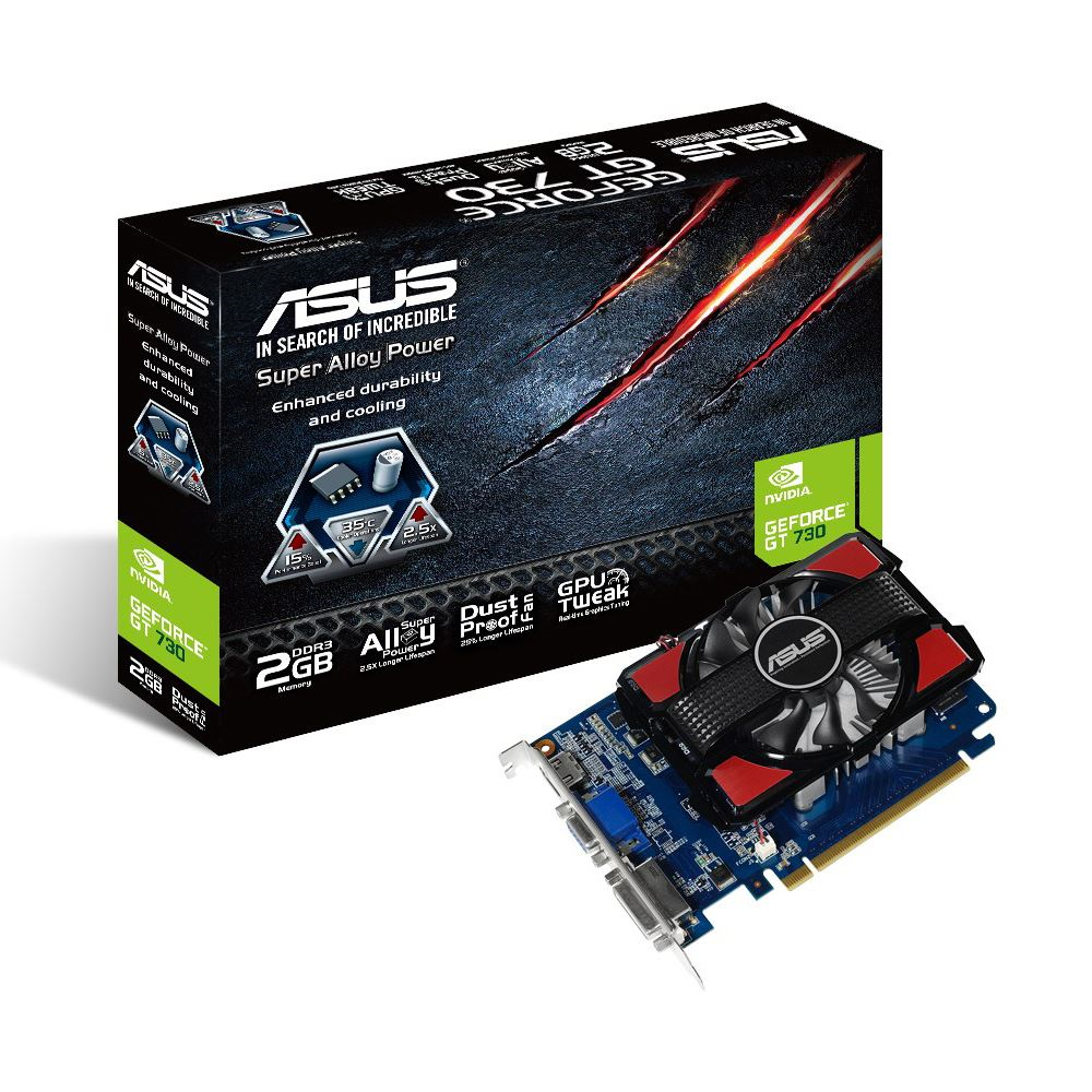 ASUS Nvidia GT730 2GB  DDR3 128 Bit 2GD3 HDMI DVI