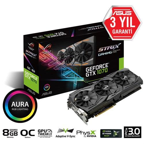 ASUS Nvidia GTX1070 8GB GTX1070 STRIX GAMING GDDR5 256 Bit STRIX-GTX1070-O8G DVI-D