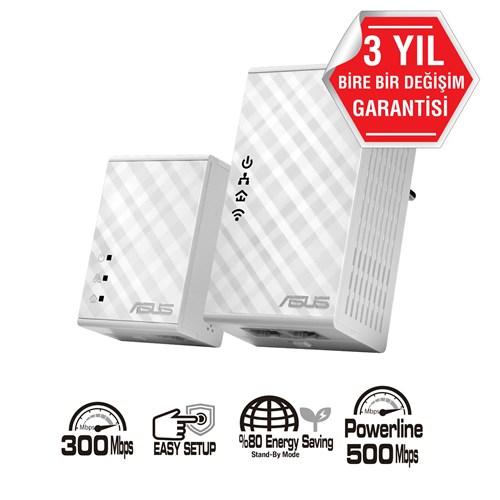 ASUS PL-N12 300 Mbps Kablosuz HomePlug AV500 Powerline Adaptor