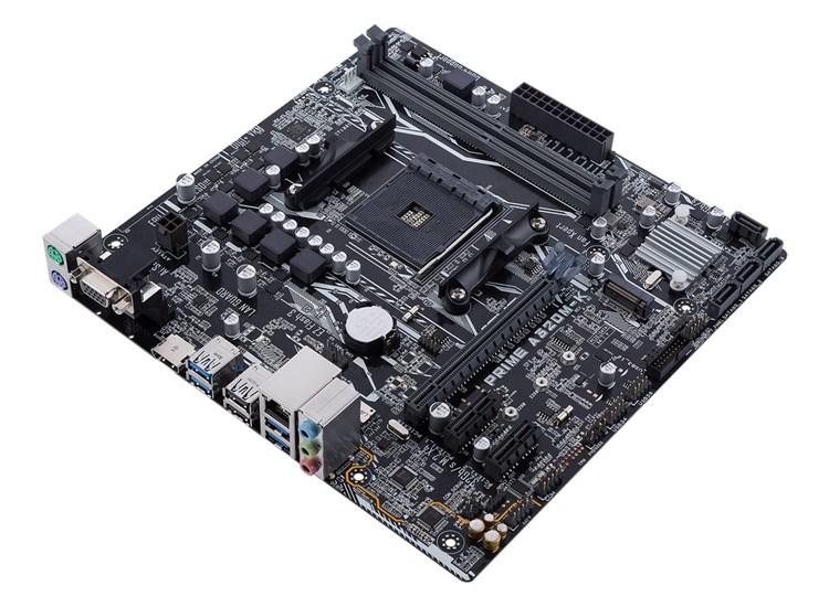 ASUS PRIME A320M-K AMD A320 AM4 Ryzen™ DDR4 3200+(O.C.) MHz USB 3.0 Anakart