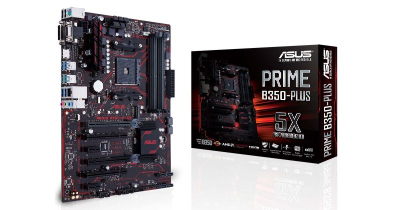 ASUS Prime B350-PLUS AMD B350, Ryzen AM4 Socket 3200Mhz OC