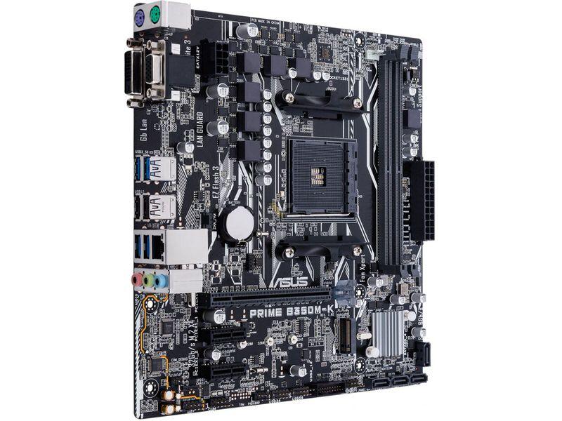 ASUS PRIME B350M-K AMD B350 AM4 Ryzen™ DDR4 3200+(O.C.) MHz USB 3.1 Anakart