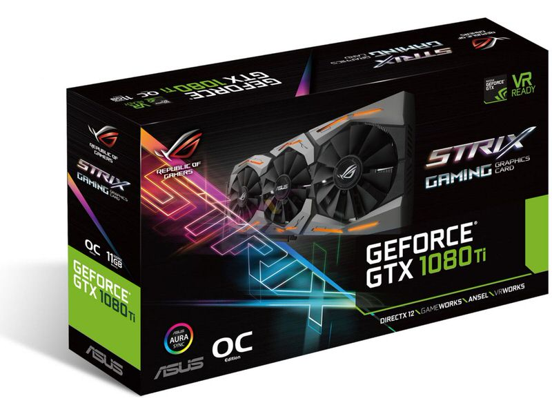 ASUS ROG-STRIX-GTX1080TI-O11G-GAMING GTX 1080 Ti OC 11GB GDDR5X 352Bit 16x