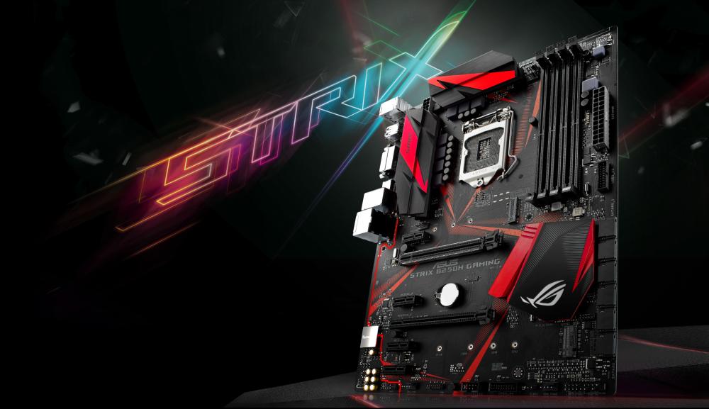 ASUS STRIX B250H GAMING Intel B250 Soket 1151 DDR4 2400 MHz USB 3.0 M.2 Anakart