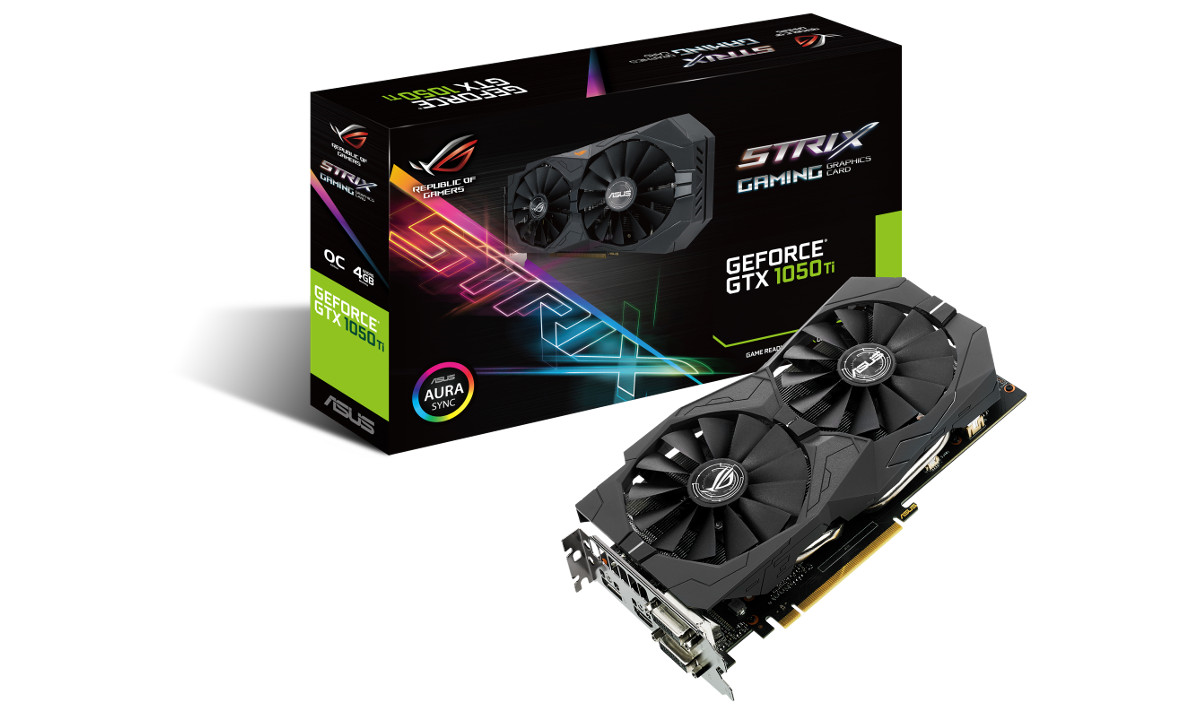 ASUS STRIX-GTX1050TI-O4G-GAMING GeForce 4GB GDDR5 128Bit 16x