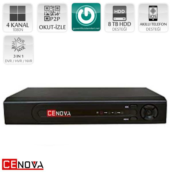 CENOVA CN-9004 AHD 4 Kanal 2 MP 1080N Kayıt Cihazı