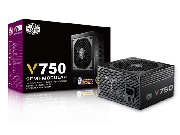 COOLER MASTER 750W V750 80+ GOLD SEMİ MOD. power