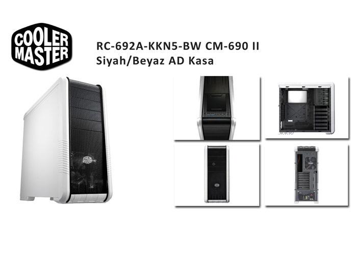 COOLER MASTER  RC-692A-KKN5-BW CM-690 II Siyah/Beyaz AD KASA