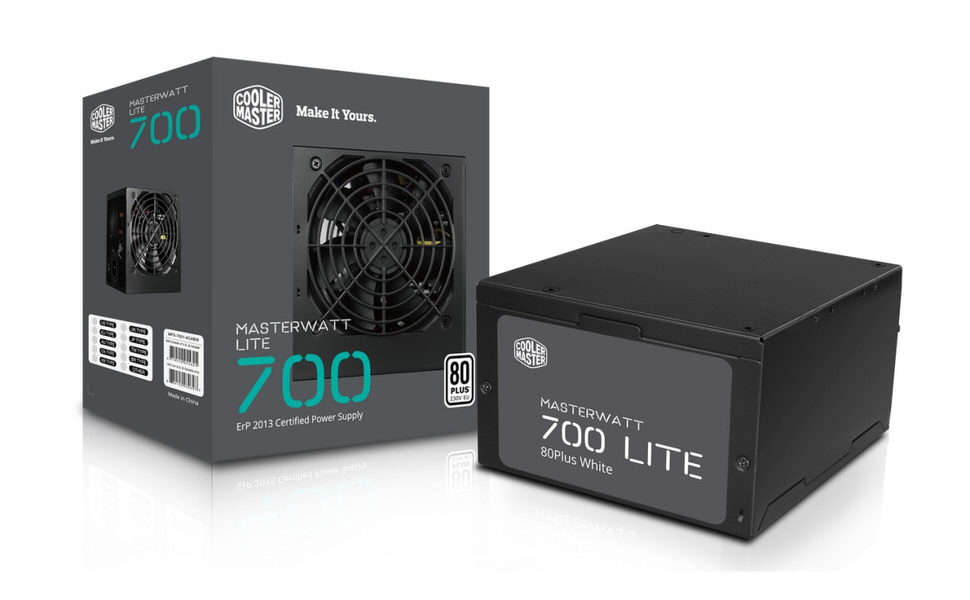 COOLER MASTER Watt 700W 80+ Aktif PFC 120mm Fanlı PSU POWER SUPPLY  (MPX-6001-ACABW-EU)