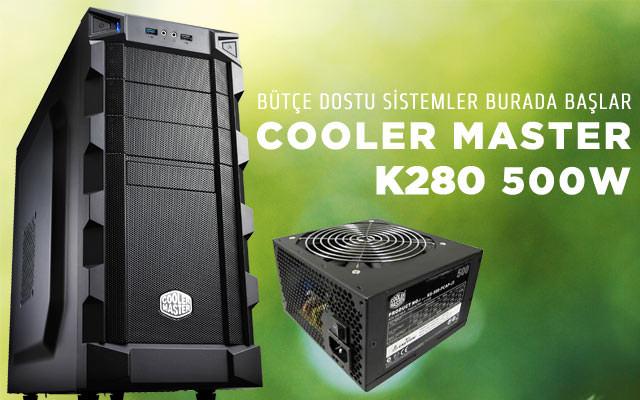 COOLER MASTERK280 500W USB3.0 Siyah MidTower Kasa (RC-K280-KKP500)