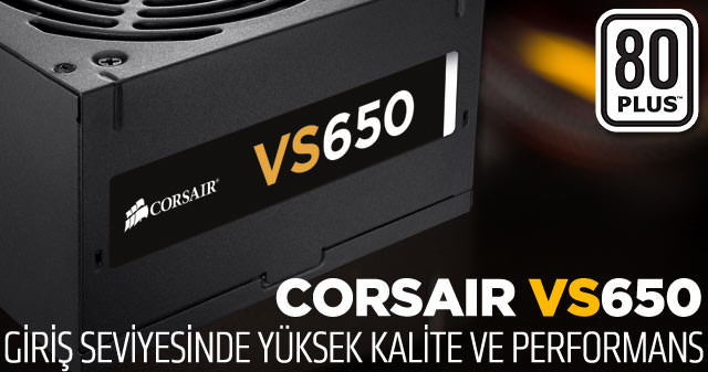 CORSAIR Builder VS650 650W 80+ Power Supply (CP-9020098-EU) POWER SUPPLY