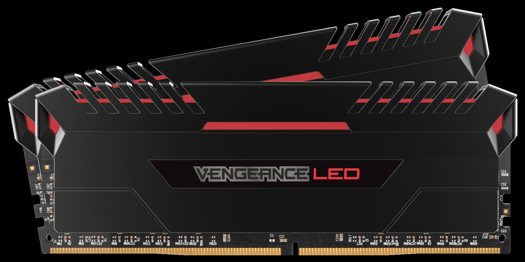 CORSAIR VENGEANCE LED RED 16GB (2x8GB) 3200Mhz DDR4 CL16 Pc Ram CMU16GX4M2C3200C16R