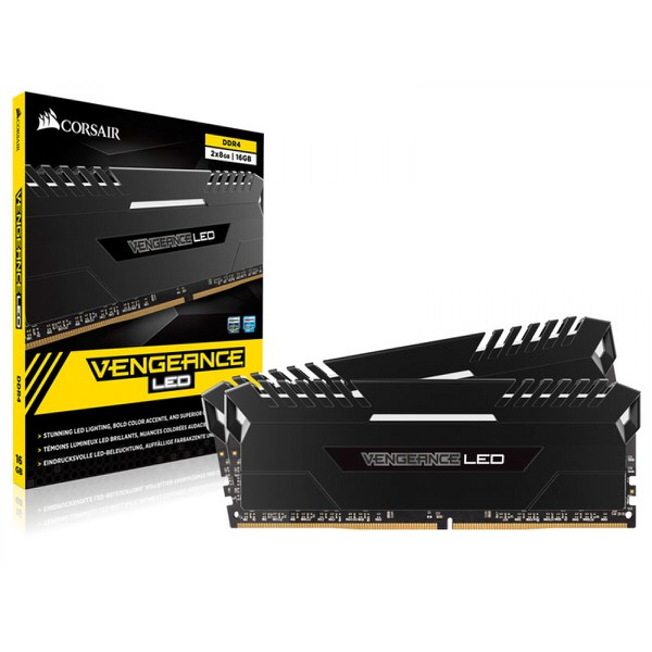 CORSAIR VENGEANCE LED Siyah 16GB (2x8GB) 3200Mhz DDR4 CL16 Pc Ram CMU16GX4M2C3200C16
