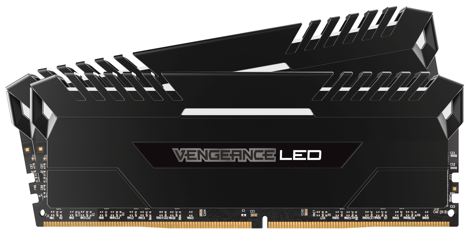 CORSAIR VENGEANCE LED WHITE 16GB (2x8GB) 3000Mhz DDR4 CL15 Pc Ram CMU16GX4M2C3000C15