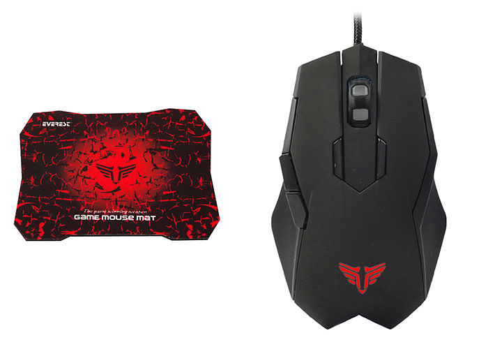 EVEREST SGM-X77 Usb Siyah Gaming Mouse Pad ve Oyuncu Mouse