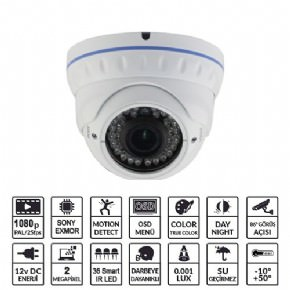 EZCOOL   Ez-3320hd 2mp 2,8-12mm 36led Ahd Dome Osd Güvenli·k Kamerasi