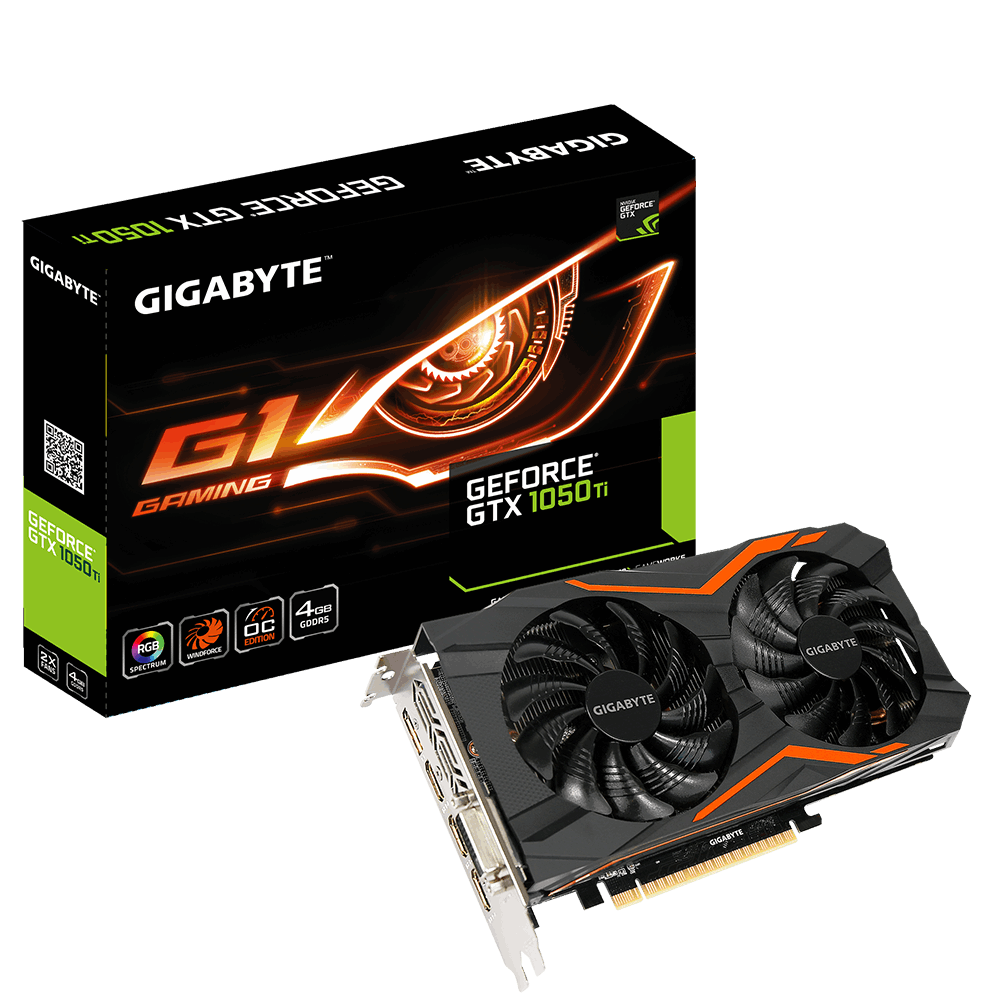 GIGABYTE GTX1050 GV-N105TG1 GAMING-4GD GeForce Ti G1 Gaming 4GB GDDR5 128Bit 16x