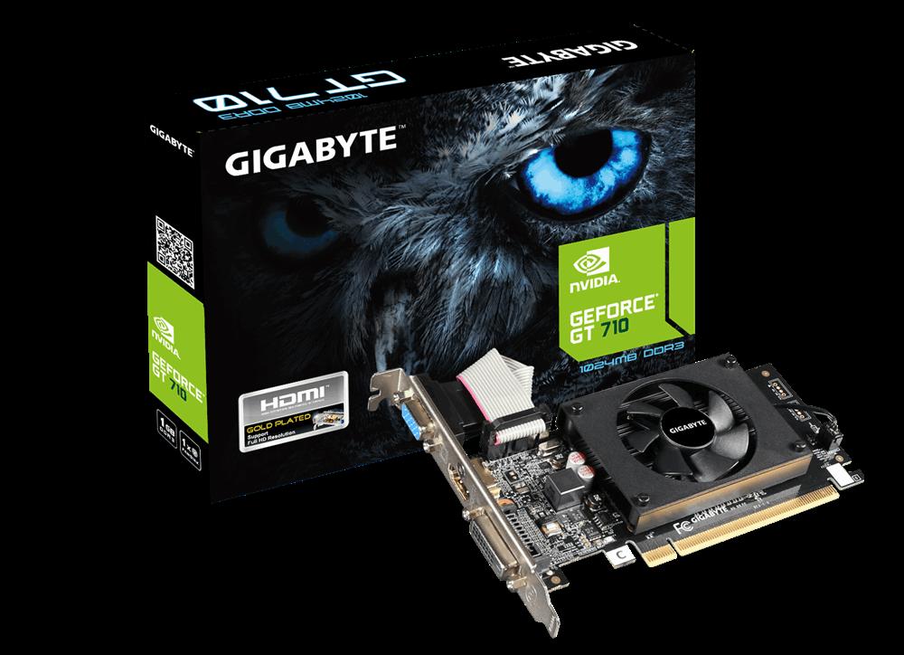 GIGABYTE NVIDA GEFORCE GT710 1GB 64Bit GDDR3 (DX12) PCI-E 2.0 EKRAN KARTI