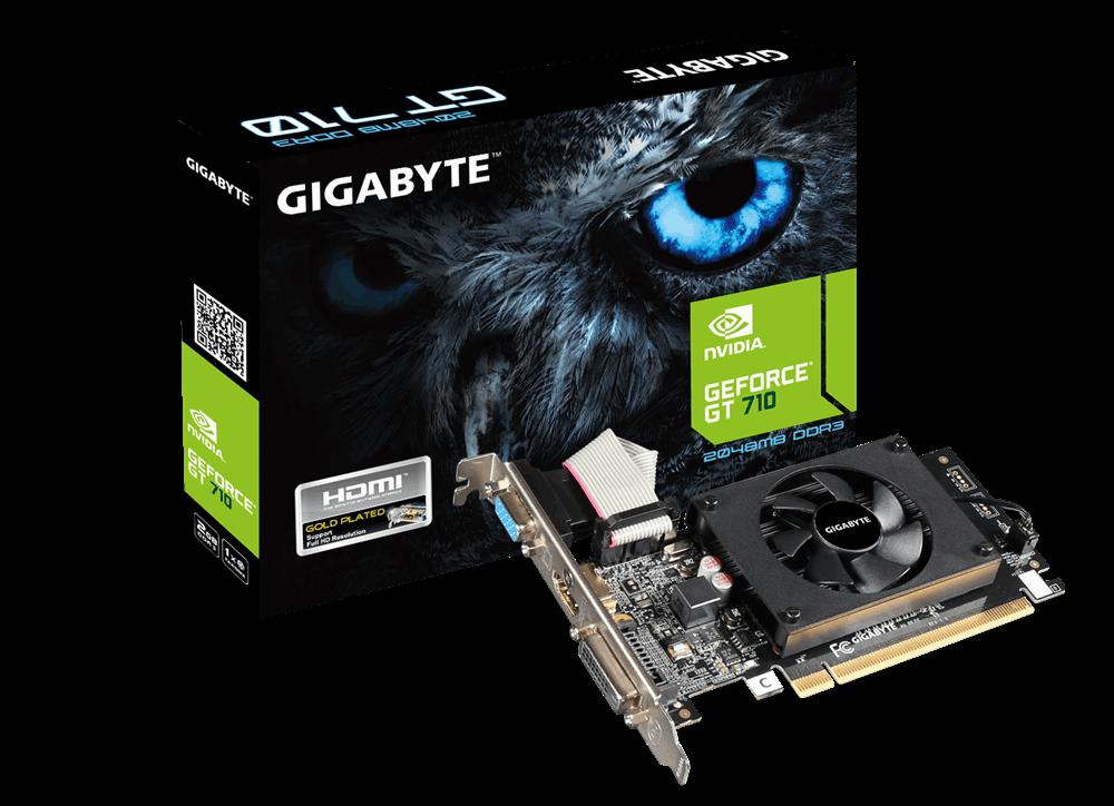 GIGABYTE NVIDA GEFORCE GT710 2GB 64Bit (DX12) PCI-E 2.0 DDR3 EKRAN KARTI
