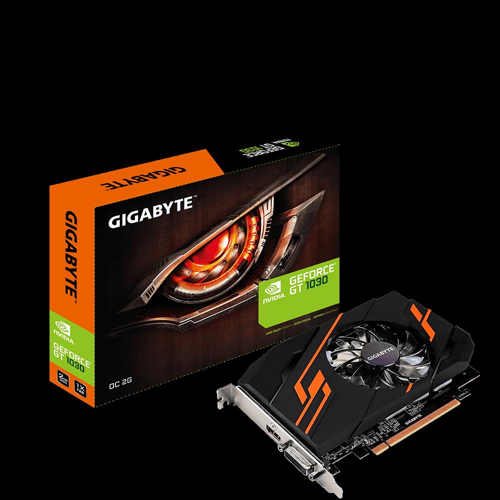 GIGBAYTE GT1030 GeForce  OC 2GB GDDR5 64Bit (  GV-N1030OC-2GI )