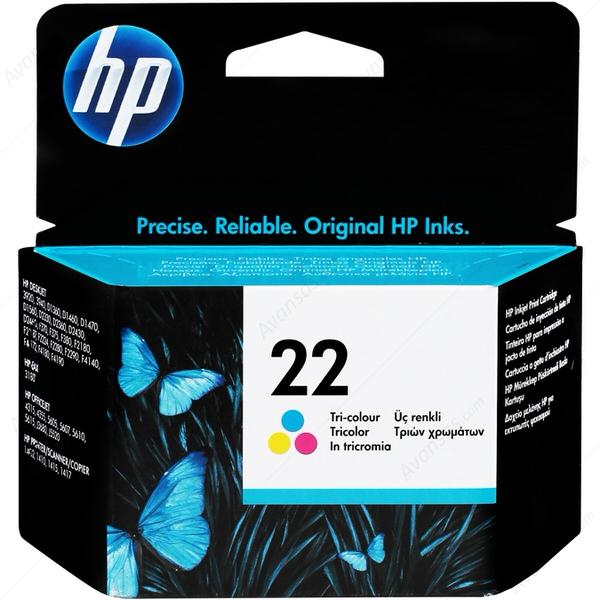 HP 22 Üç Renkli Orijinal Mürekkep Kartuşu (C9352AE)
