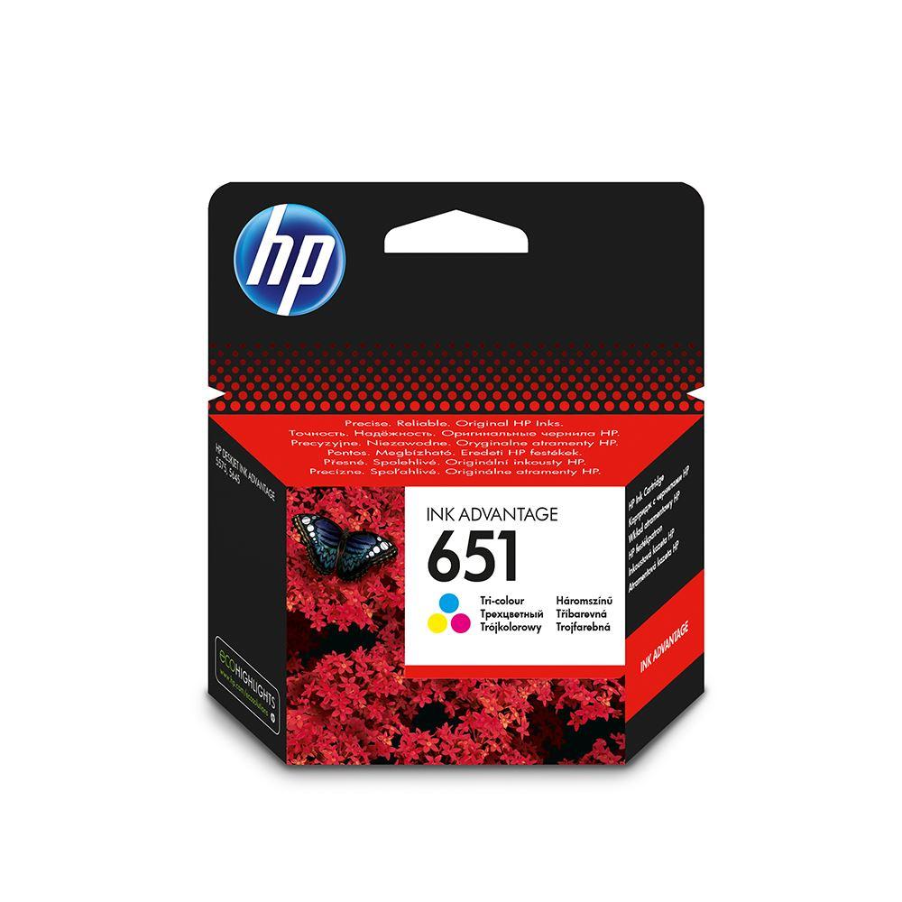 HP 651 C2P11A RENKLİ ORJİNAL KARTUŞ DeskJet 5645 / 5575