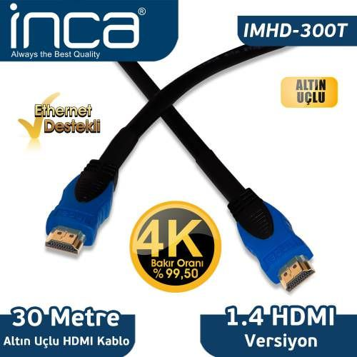 INCA 30 METRE 1,4 V 3D 4K ALTIN HDMI