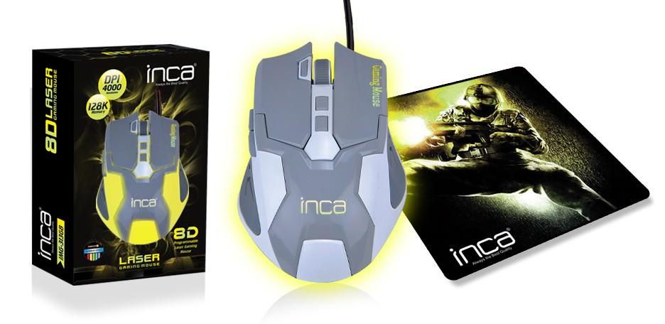 INCA IMG-313GB 8D LASER GAMİNG 4000DPI LEDLI