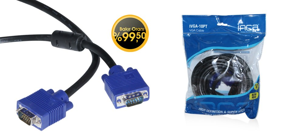 INCA IVGA-10T 10 Metre VGA to VGA Kablo