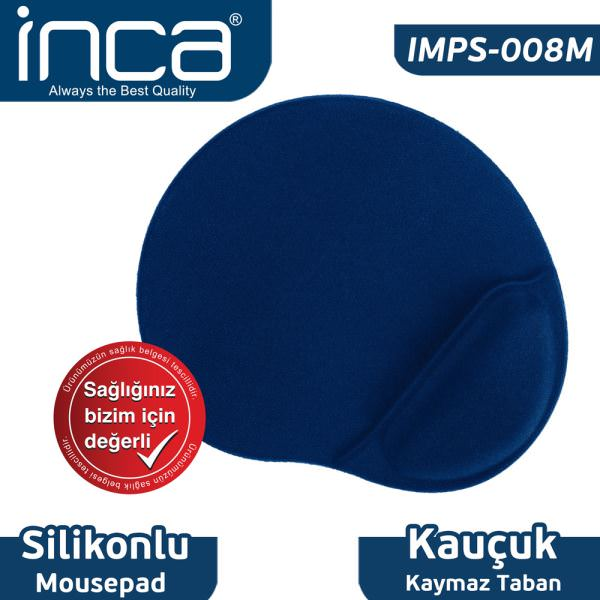 INCA MOUSE PAD-IMPS-008M MAVİ BILEKLIKLI SLIKONPAD