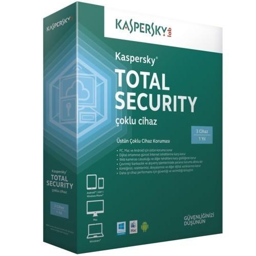 KASPERSKY 5060373058683 Total Securıty Multı Devıce, 3 Kullanıcı, 1 yıl