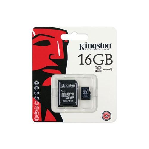 KINGSTON 16 GB Micro SDHC Class4 Hafıza Kartı SDC4/16GB