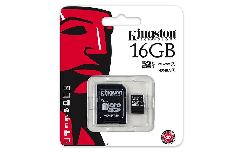 KINGSTON 16GB MICRO SD KART ADAPTORLU CLAS10 SDC10G2/16GB