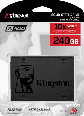 KINGSTON 240GB SSDNow A400 SSD (SA400S37/240G) HARDDİSK