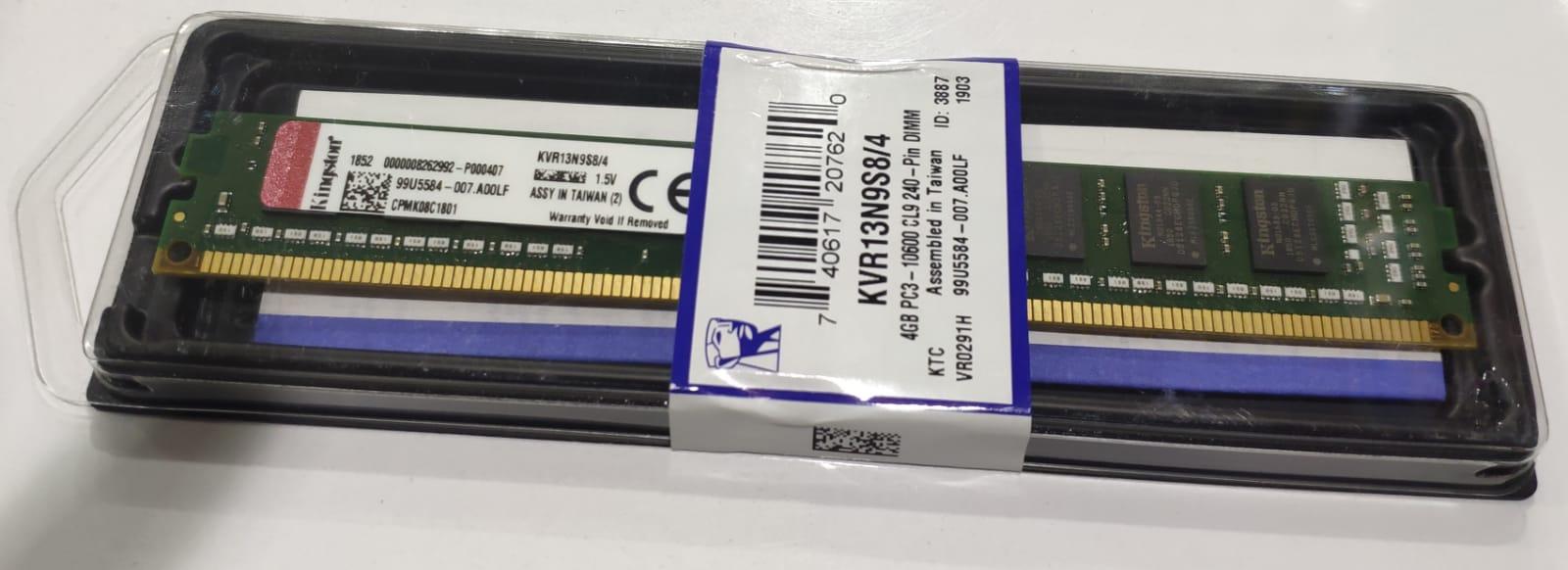 KINGSTON 4GB 1333MHZ DDR3 KVR13N9S8/4 Masaüstü Bilgisayar Bellek