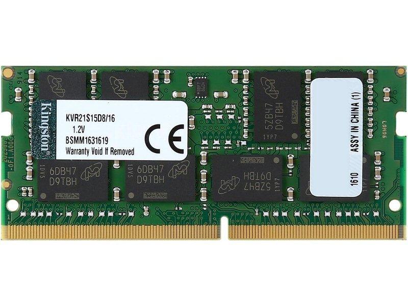 KINGSTON ValueRAM 16GB 2133MHz DDR4 Non-ECC CL15 SODIMM 2Rx8 Laptop Memory (KVR21S15D8/16) Tek 1X16GB