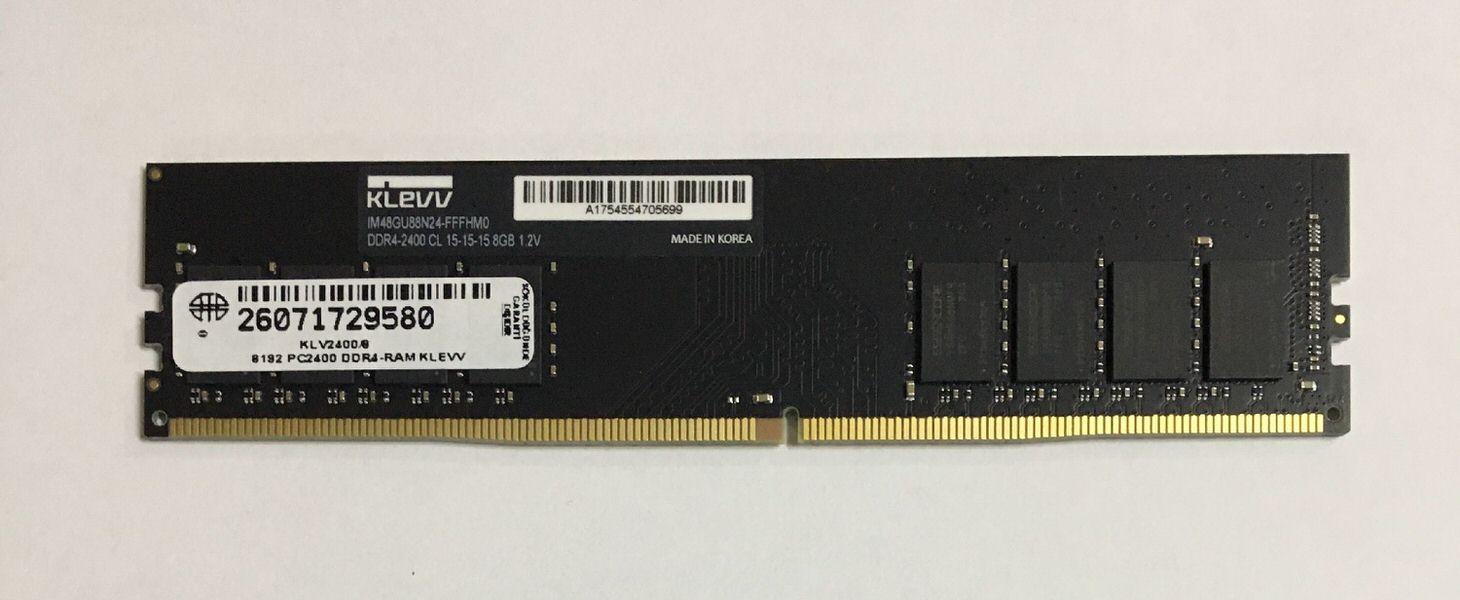 KLEVV 8GB 2400MHZ DDR4 KLV2400-8 RAM